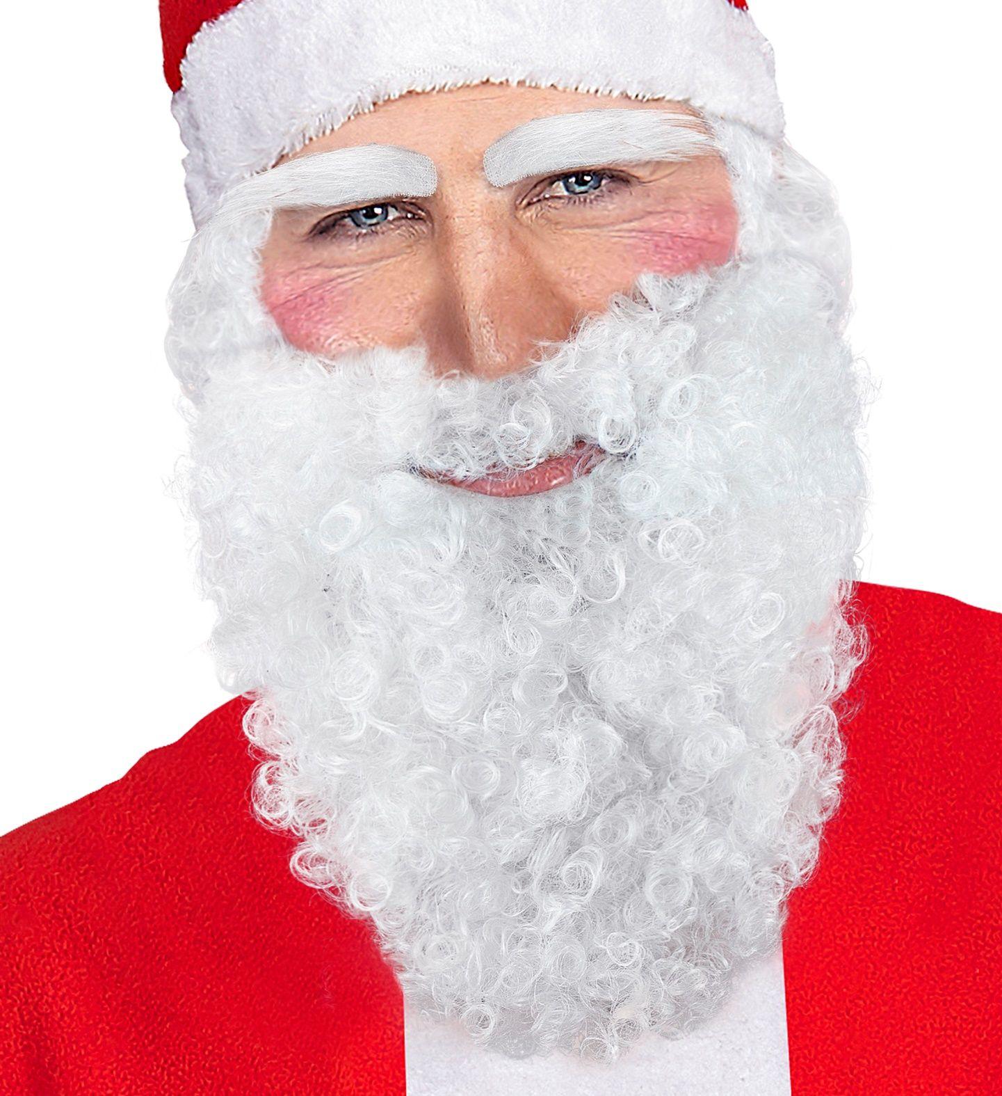 Kerstman baard, snor en wenkbrauwen wit