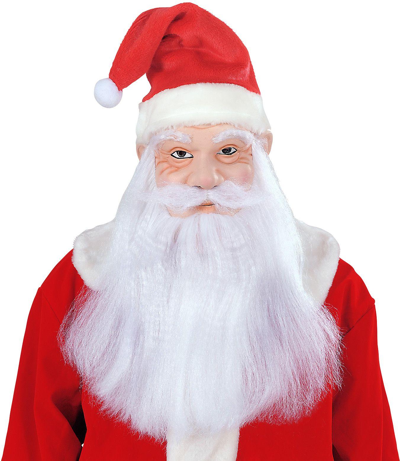 Kerstman masker, muts, pruik, baard en snor