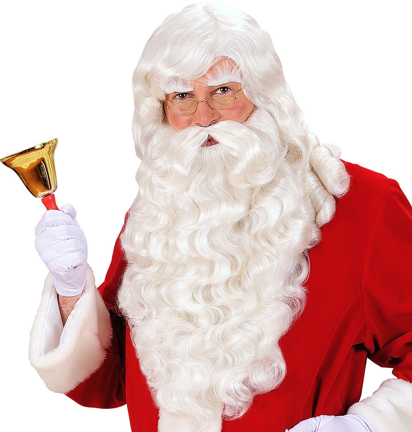 Kerstman pruik, baard, snor en wenkbrauwen