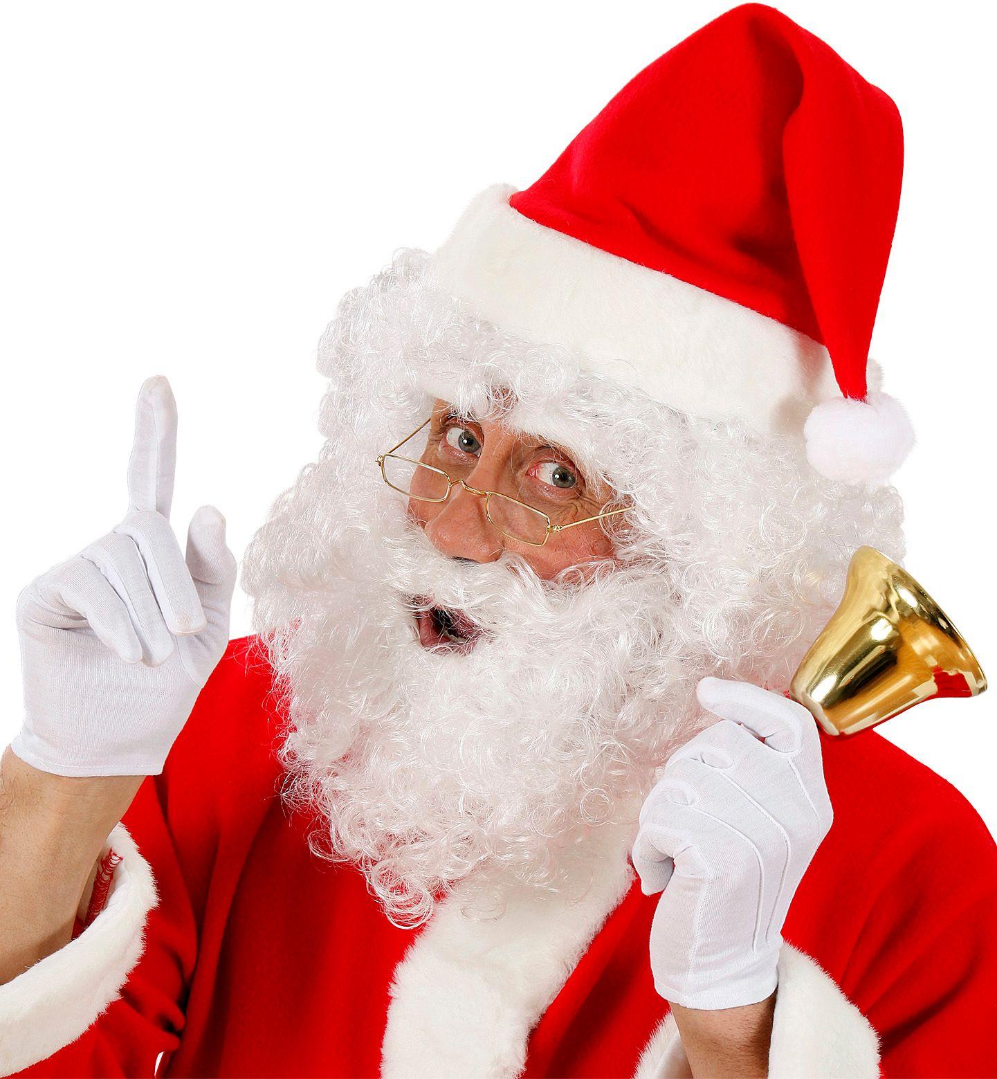 Kerstman pruik met baard en wenkbrauwen