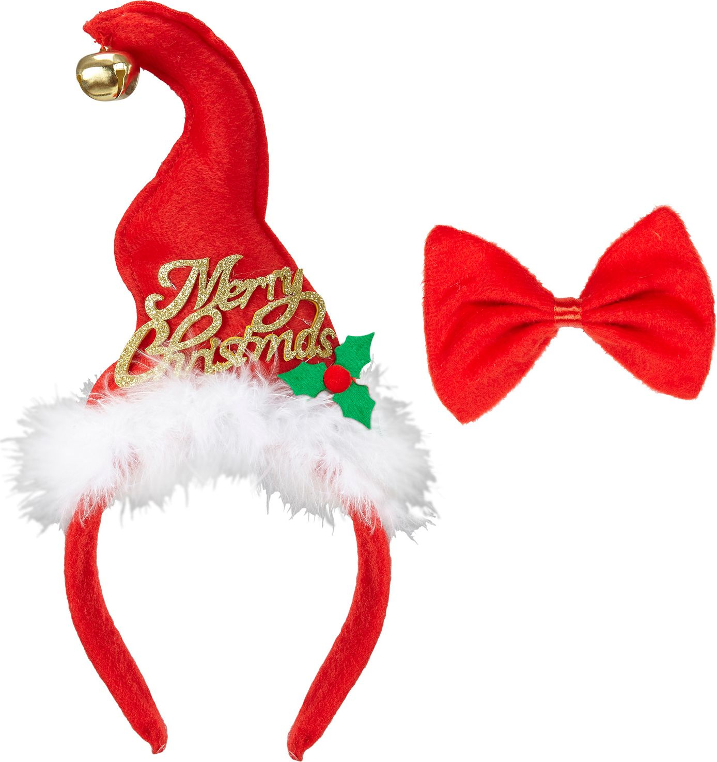 Kerstmuts met strikje
