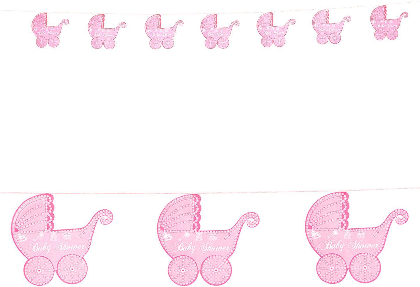 Kinderwagen slingers roze