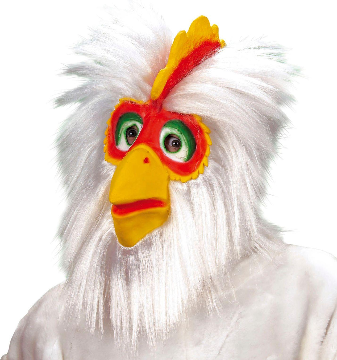 Kippen masker wit