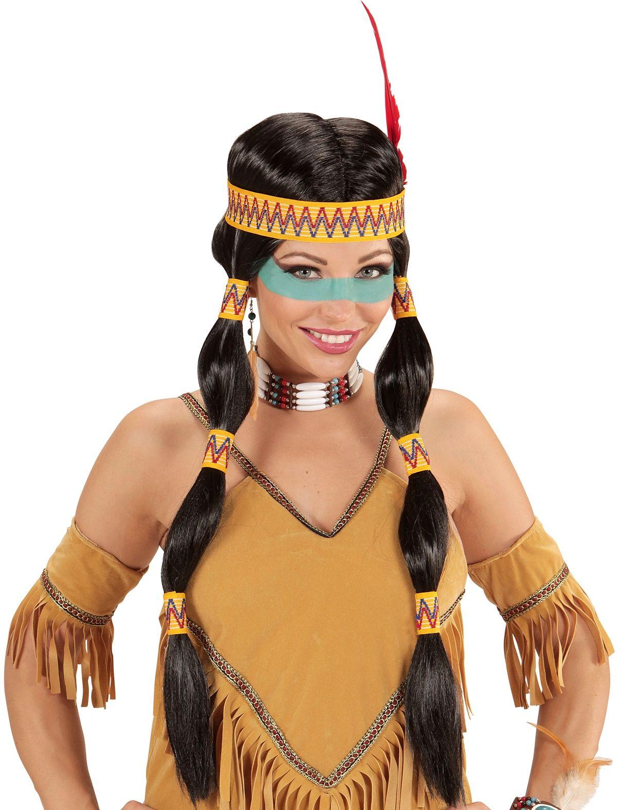 Klassieke indianen pruik