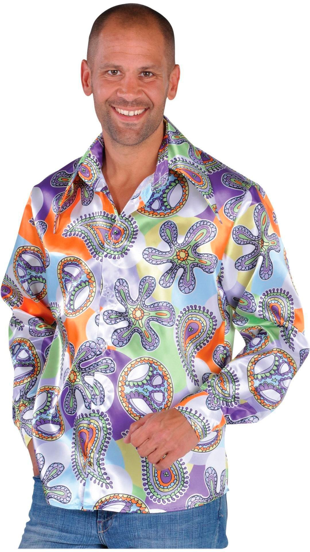 Kleurige hippie blouse mannen