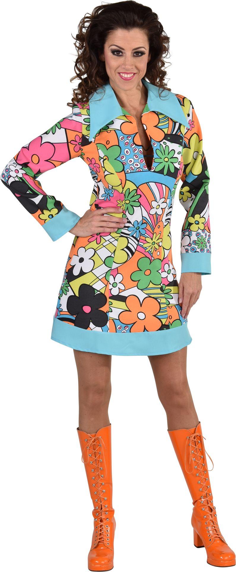 Kleurige hippie jurk vrouwen