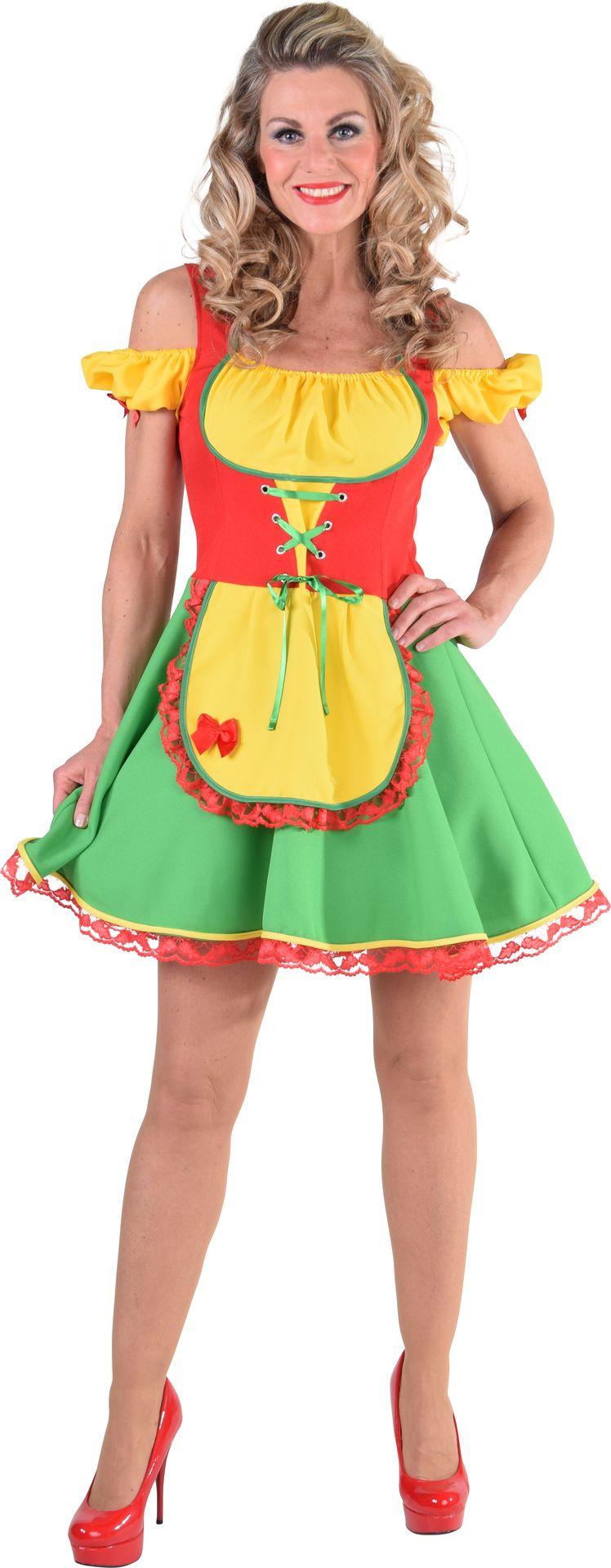 Kleurrijk oktoberfest jurkje vrouwen