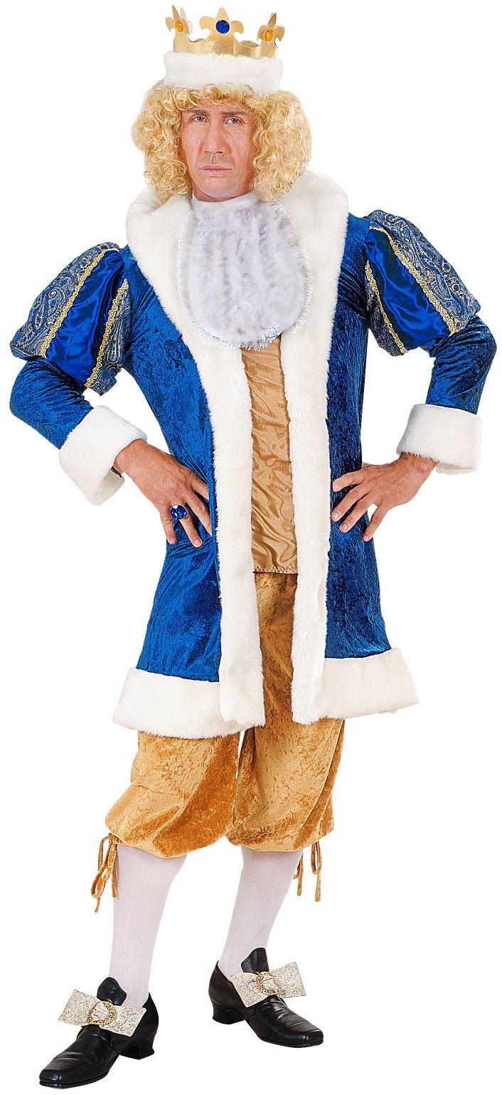 Koning kostuum met kroon