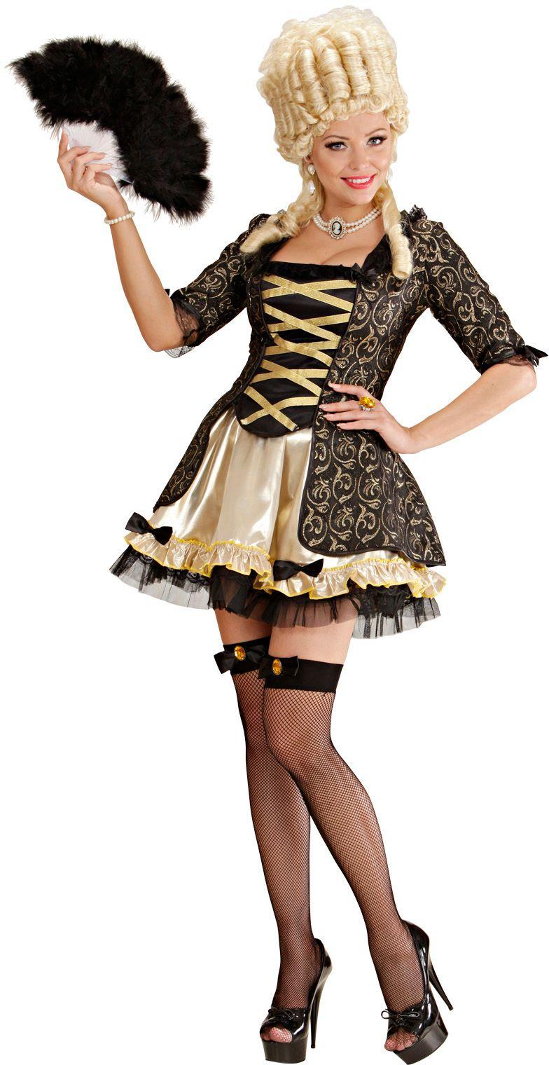 Koningin barok outfit
