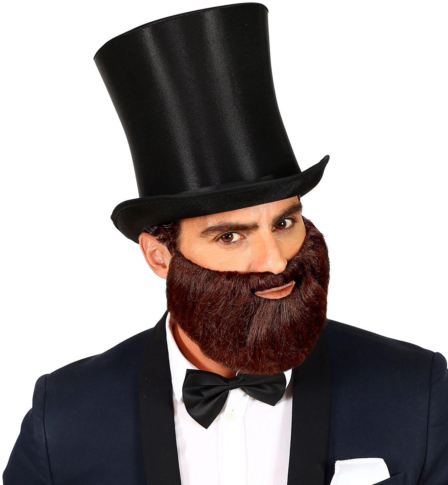Korte baard met snor bruin