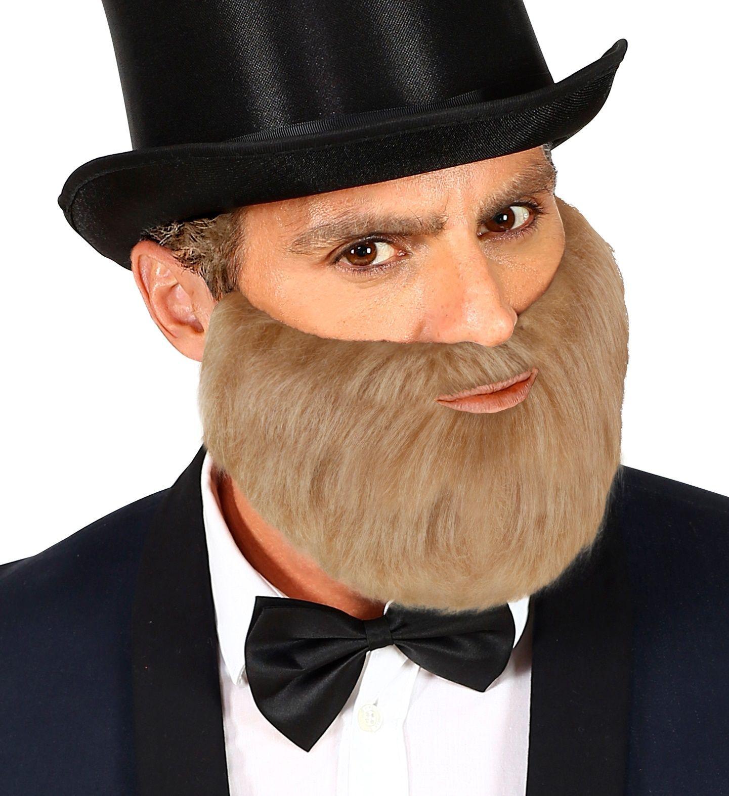 Korte baard met snor grijs