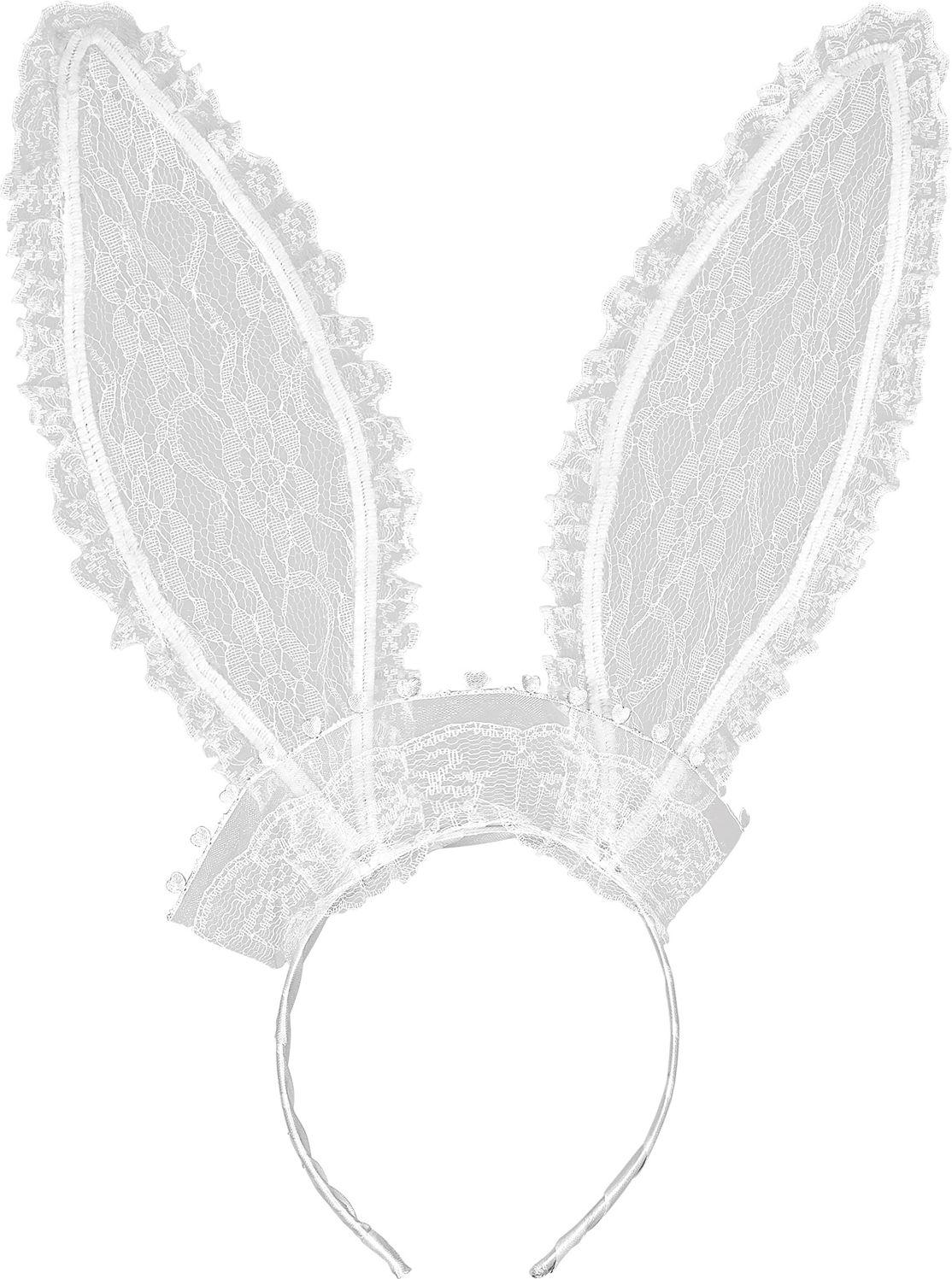 Lace konijn oren wit