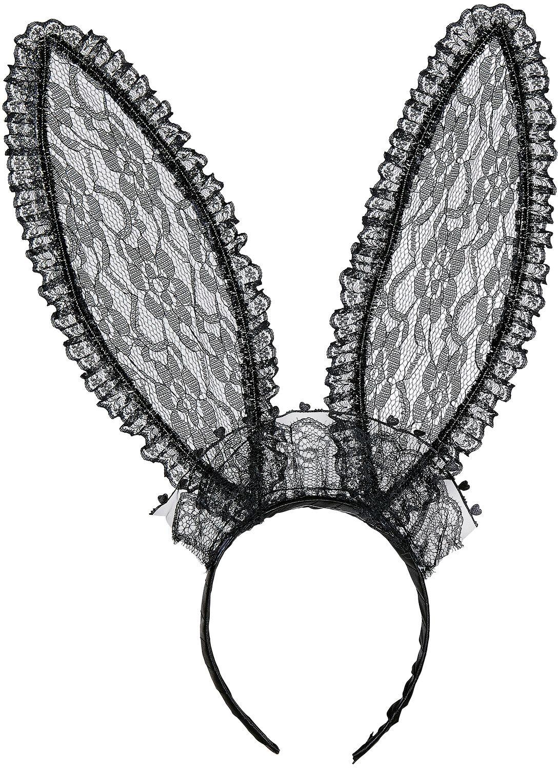 Lace konijn oren zwart