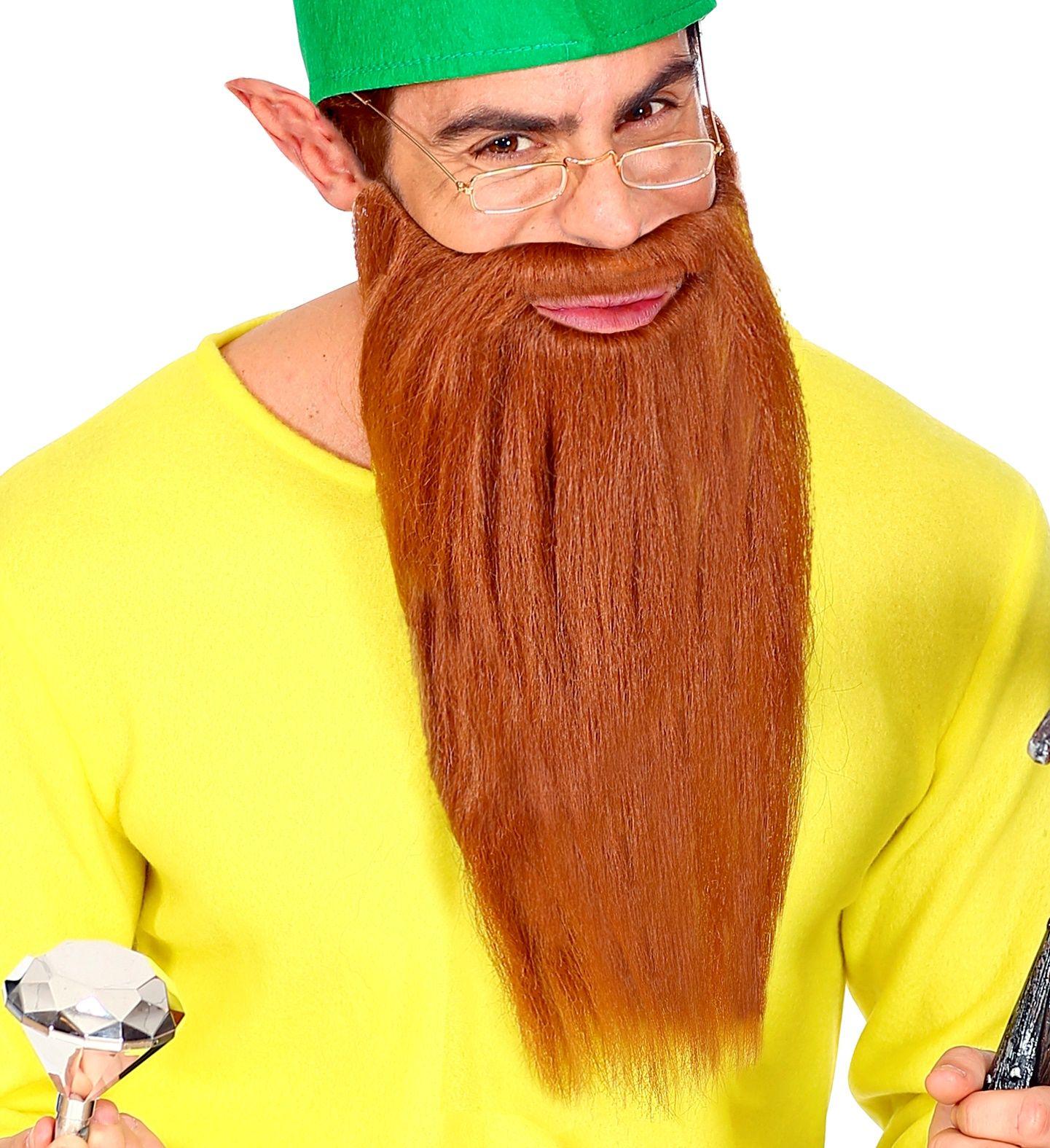 Lange baard met snor bruin