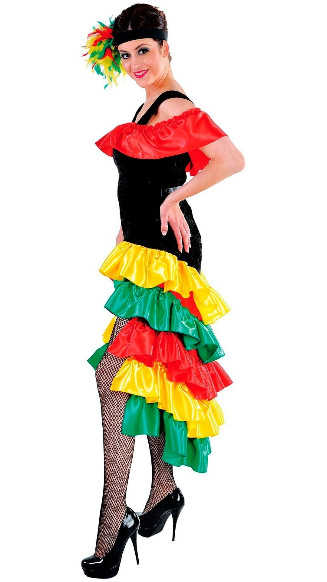 Lange braziliaanse jurk zwart vrouwen