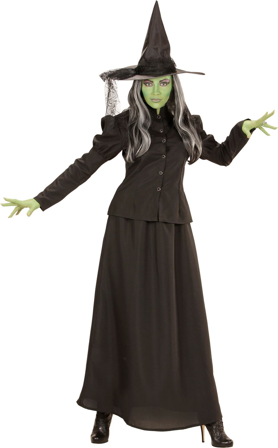 Lange heksen jurk