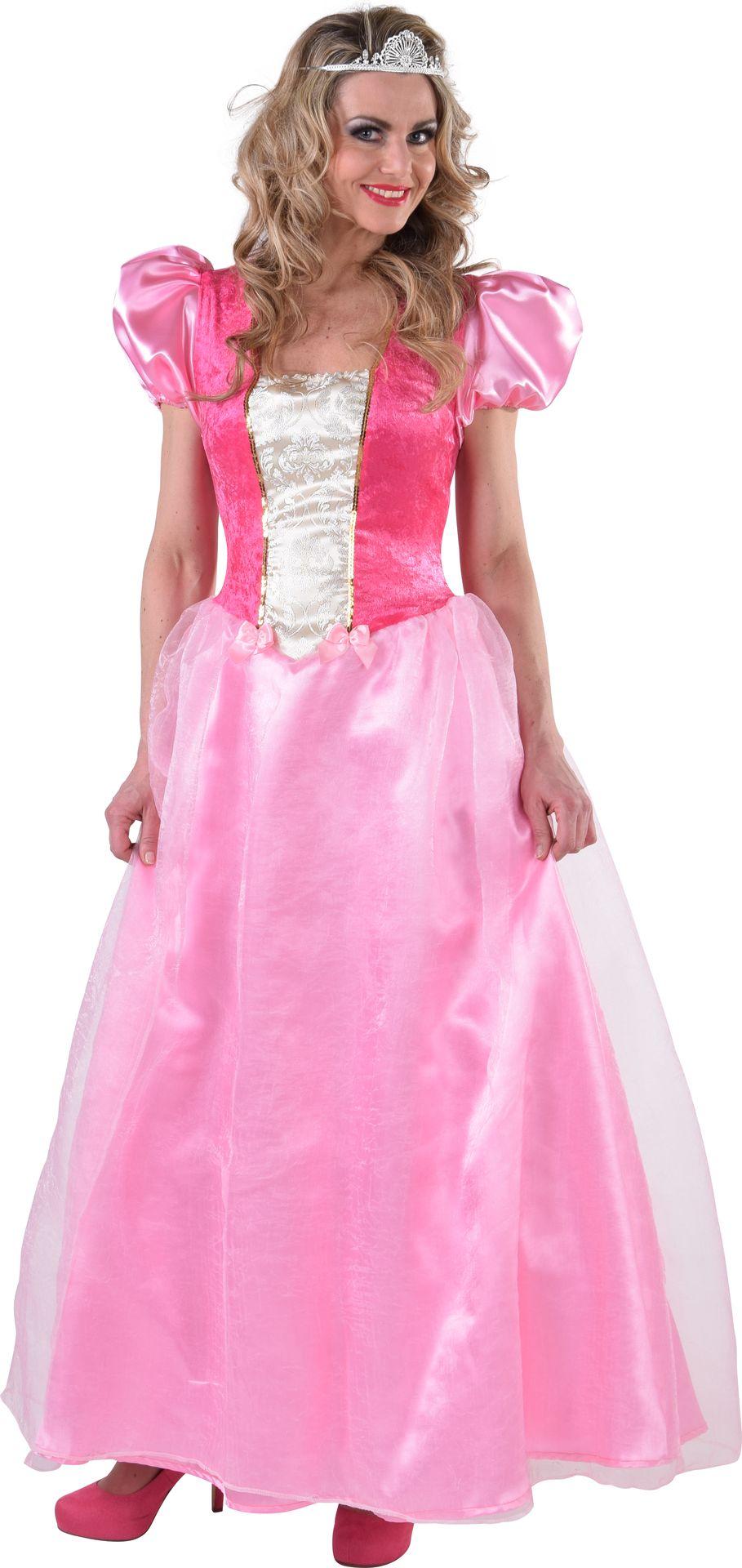 Lange prinses jurk roze