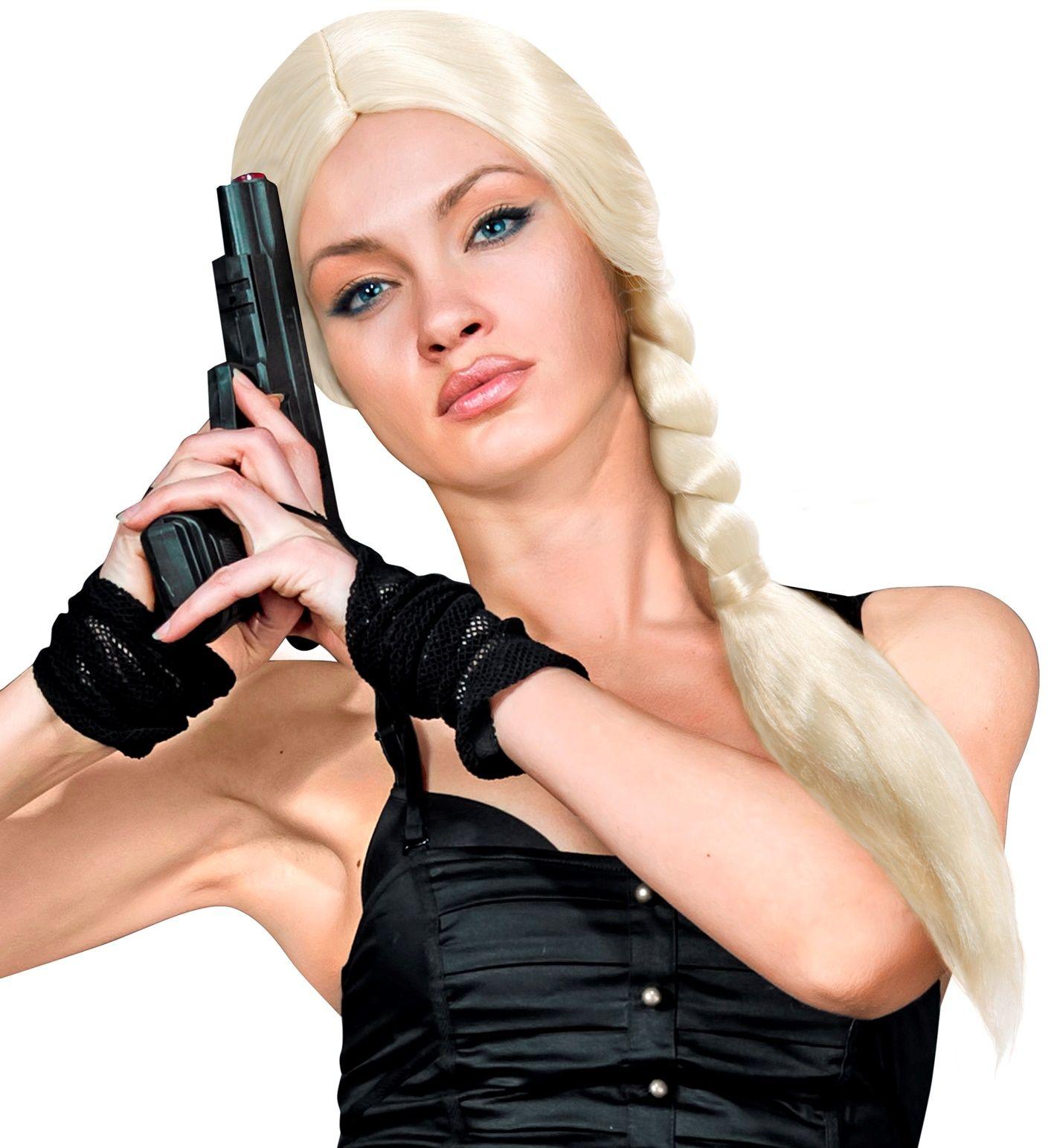 Lara pruik blond