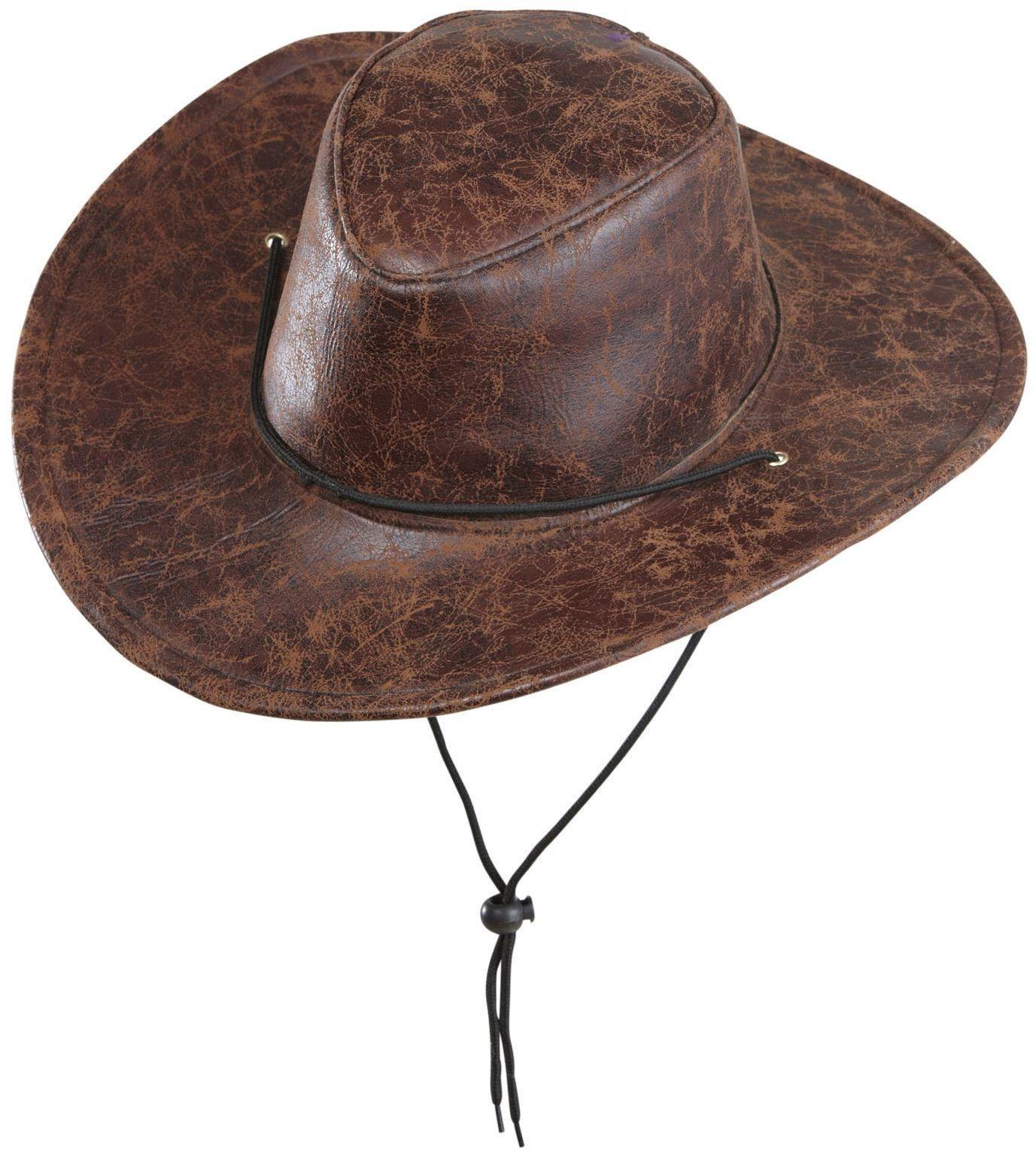 Lederlook cowboyhoed