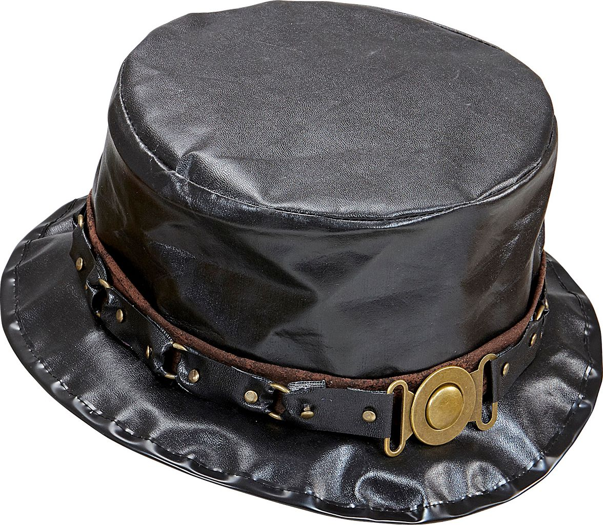 Lederlook gothic hoed