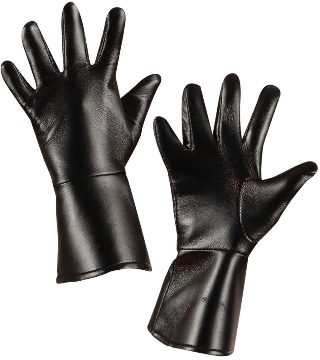 Lederlook handschoenen zwart kind
