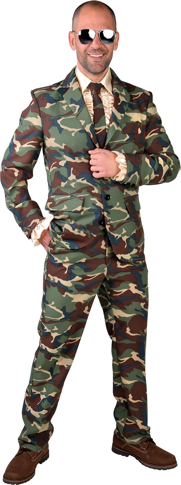 Leger camouflage outfit mannen