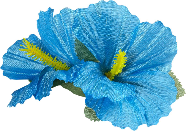 Lichtblauwe bloemen haarspeld