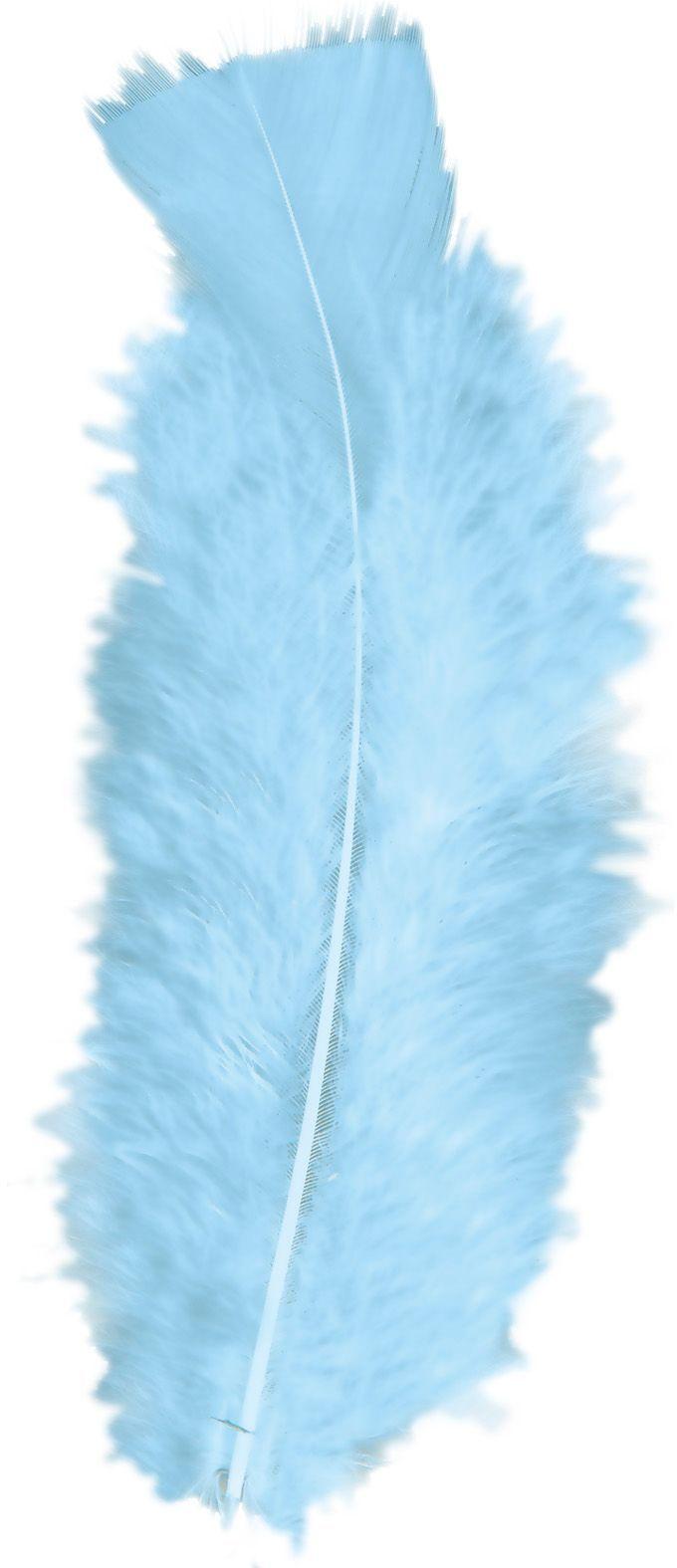 Lichtblauwe veren 50 stuks