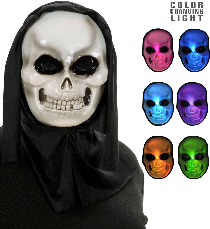 Lichtgevende multikleurige schedel masker