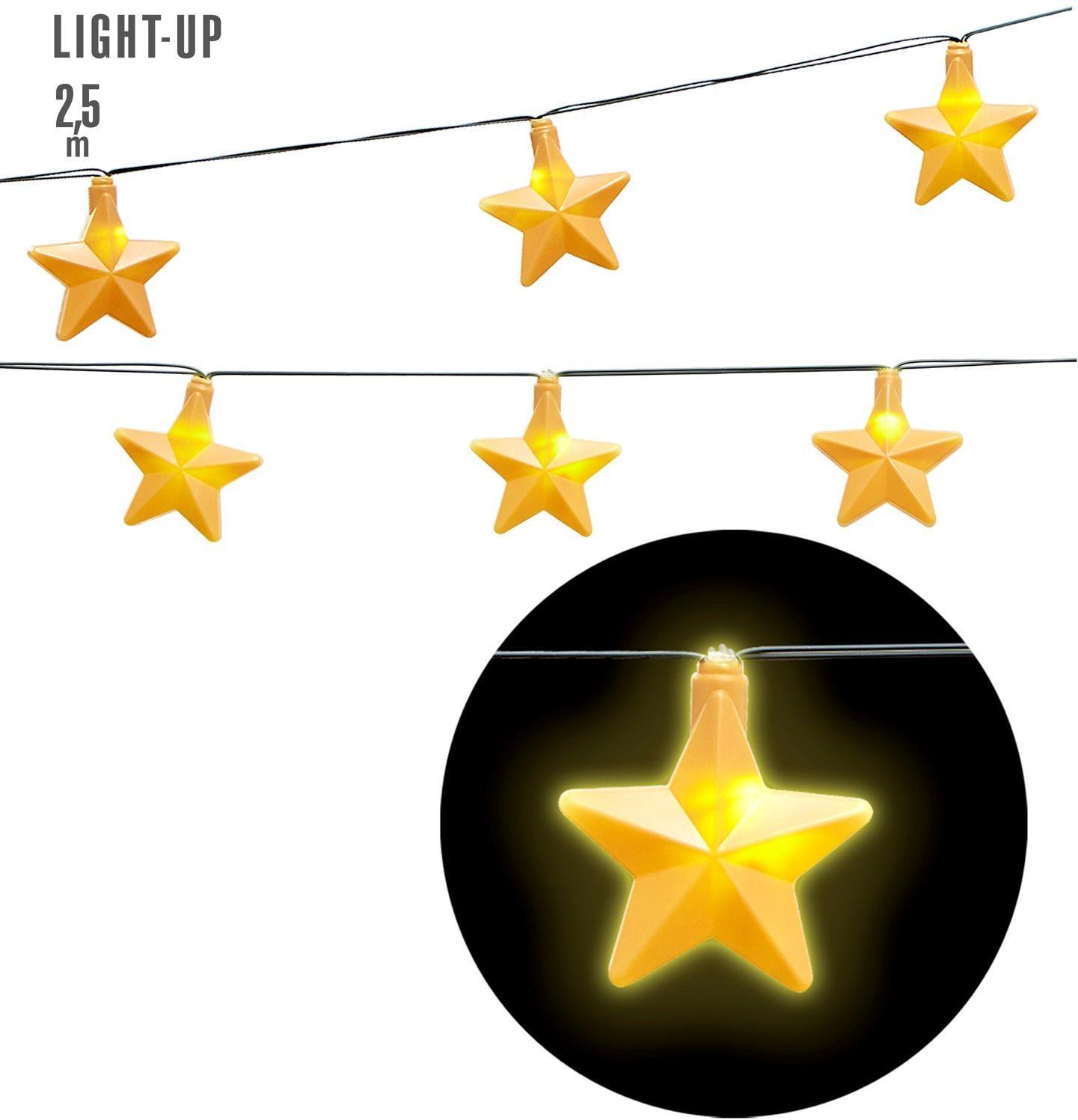 Lichtgevende sterretjes slinger