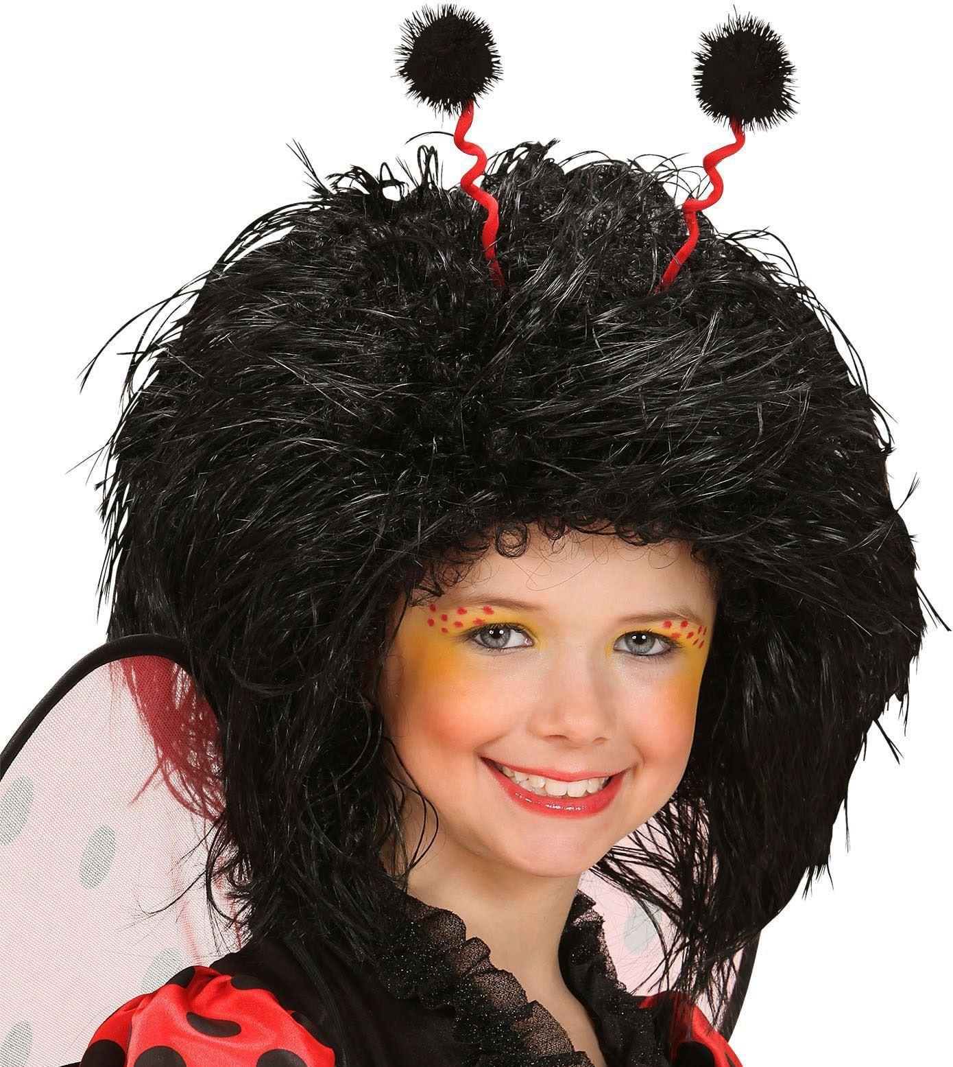 Lieveheersbeestje pruik zwart