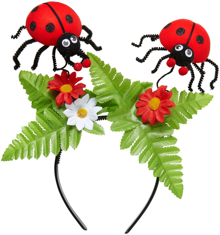 Lieveheersbeestjes hoofdband en bloemen