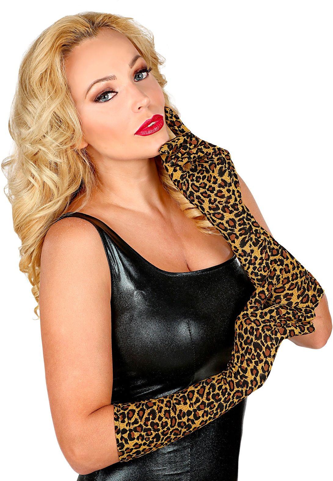 Luipaard handschoenen
