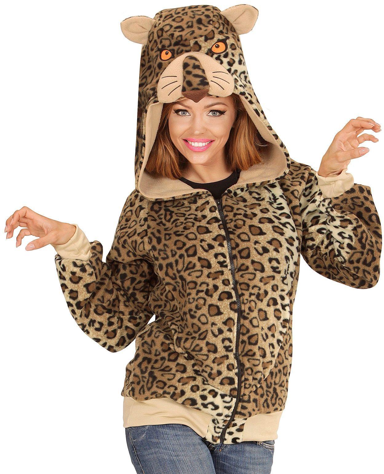 Luipaard pluche vest