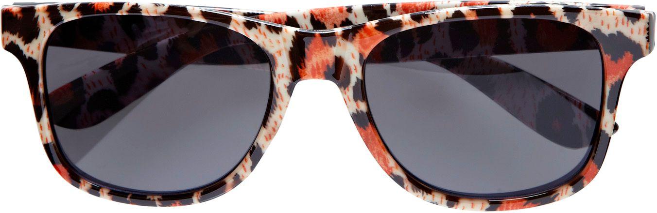Luipaard print bril