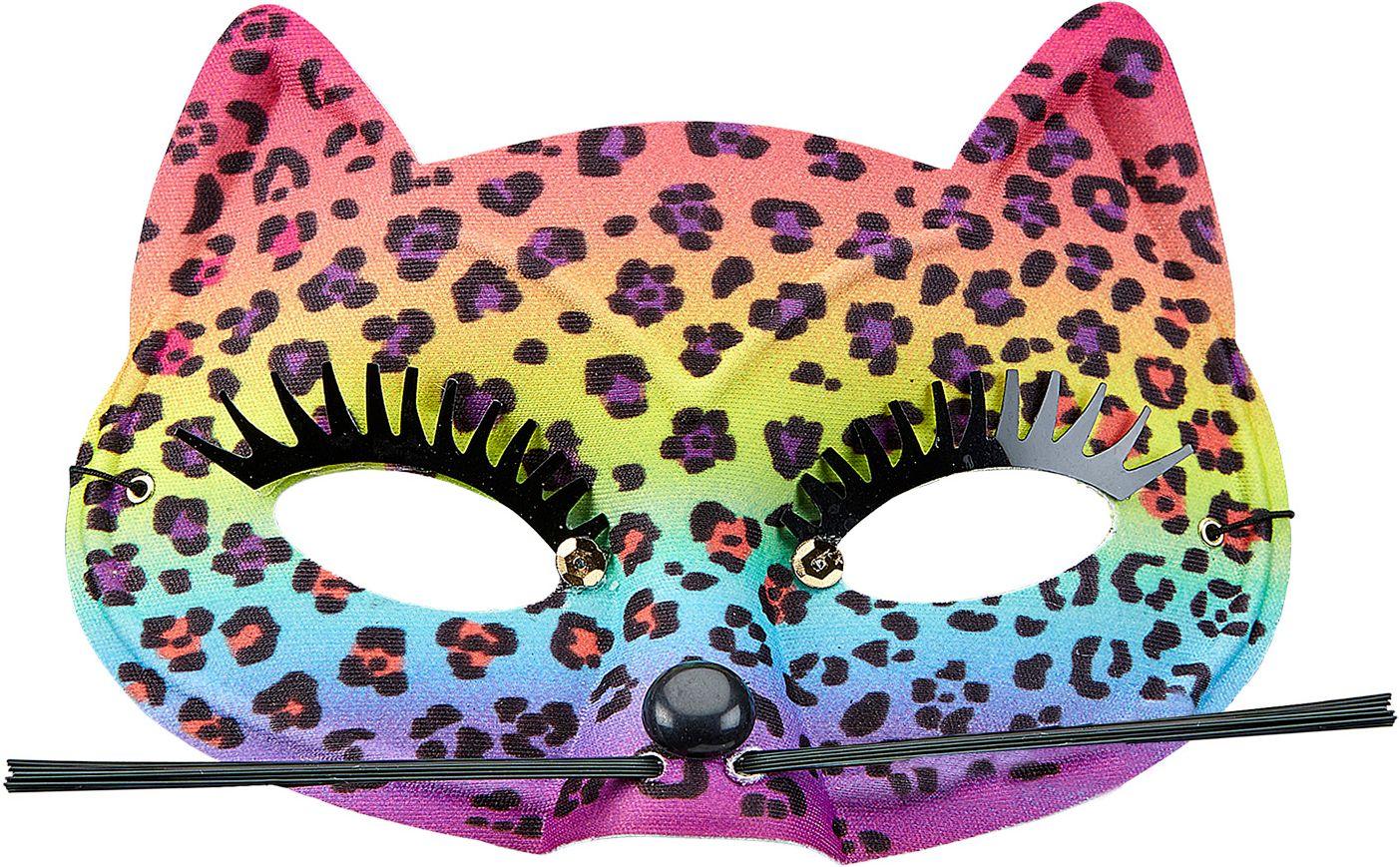 Luipaard regenboog oogmasker
