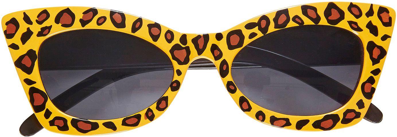 Luipaard rockabilly bril