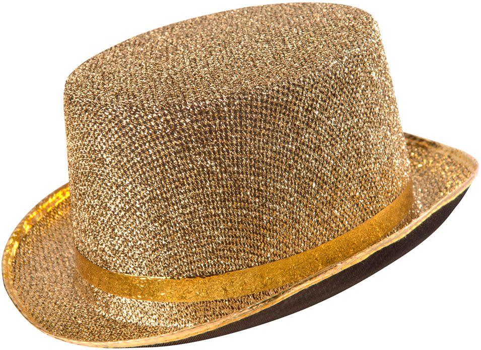 Lurex hoge hoed goud