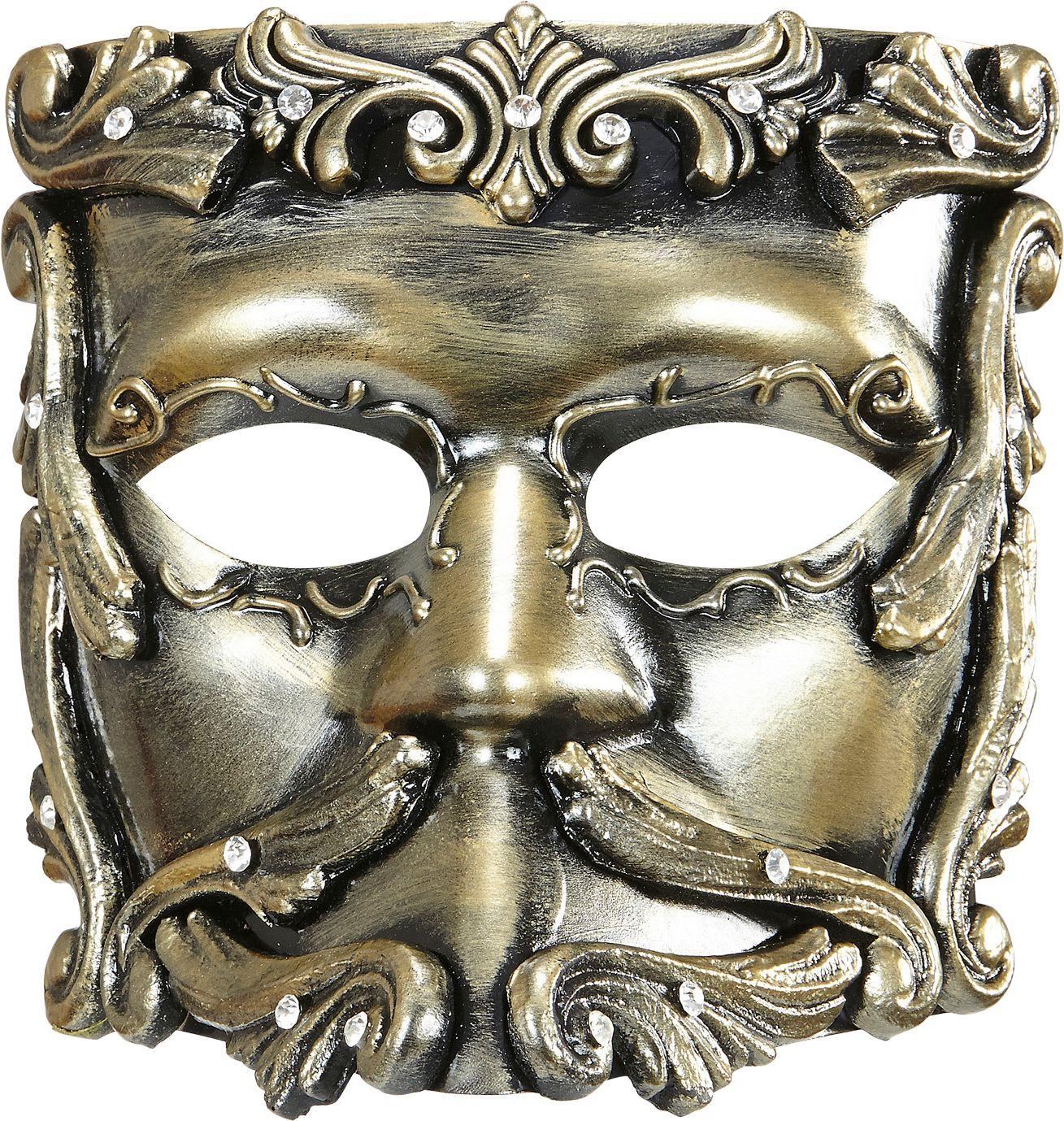 Luxe barok oogmasker brons