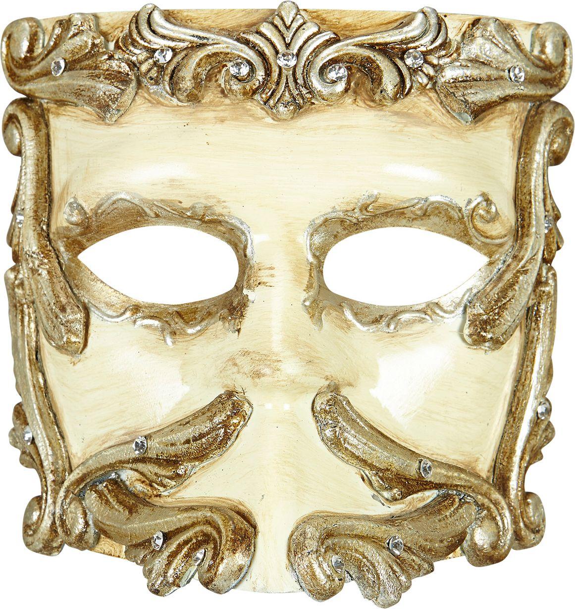 Luxe barok oogmasker ivoor