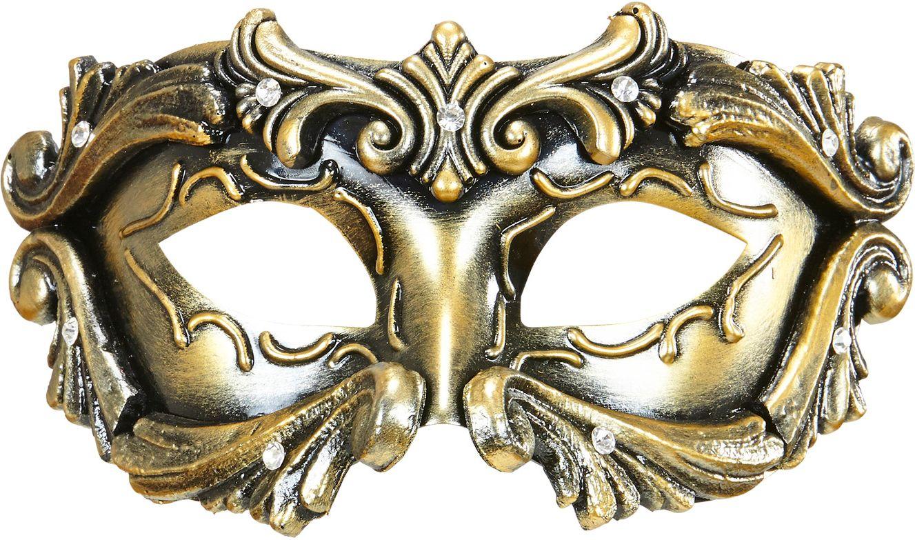 Luxe barones oogmasker brons