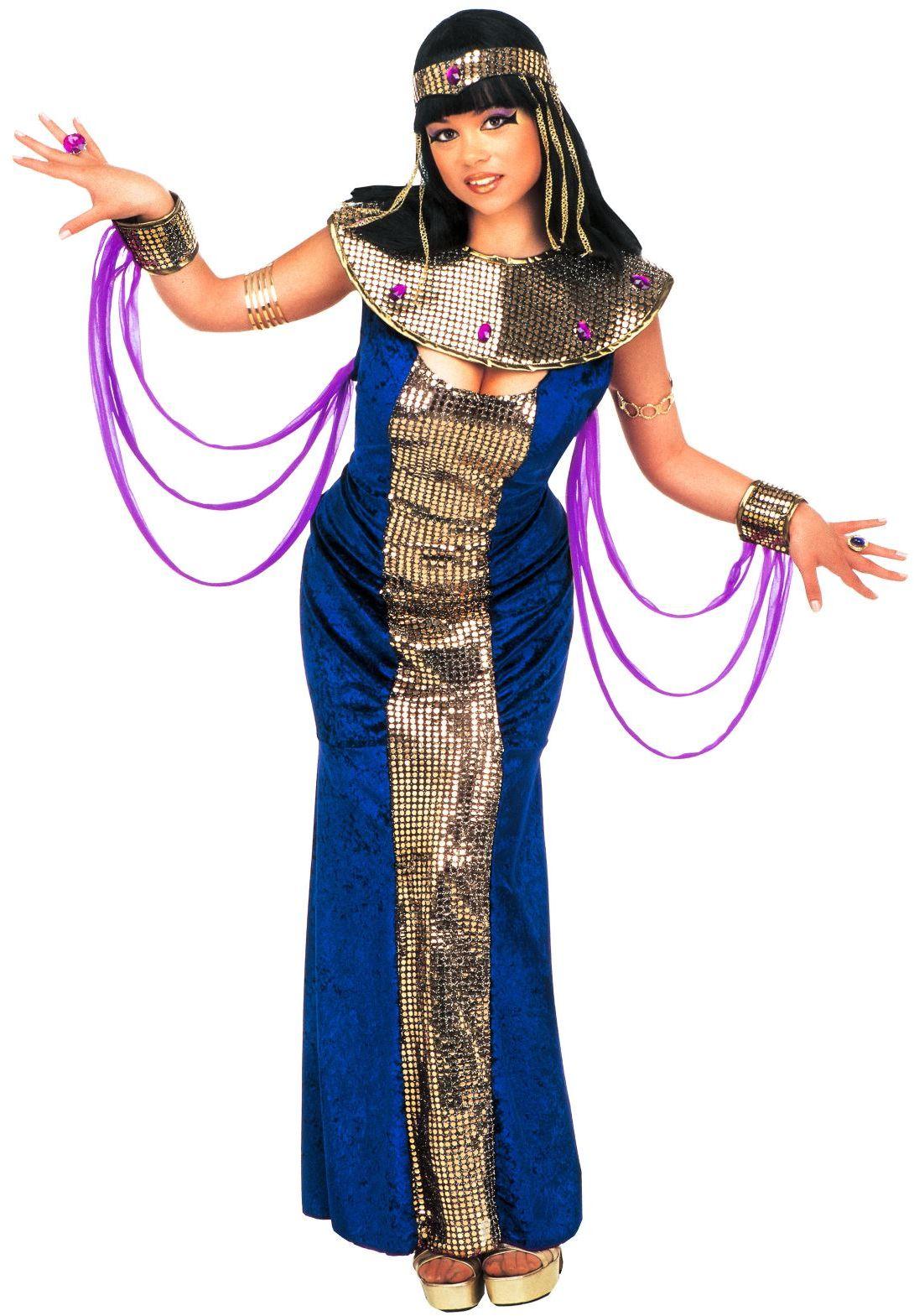 Luxe cleopatra jurk blauw