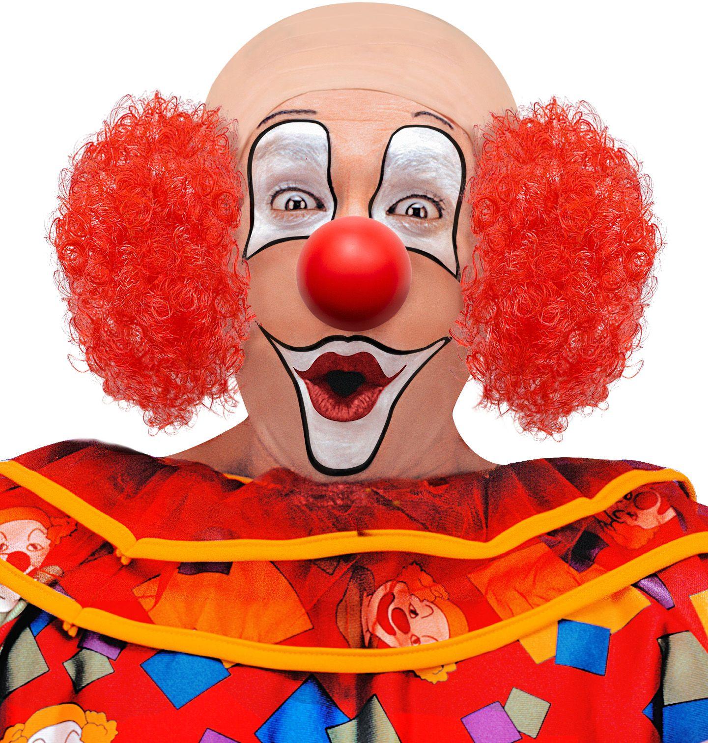 Luxe clown pruik rood haar