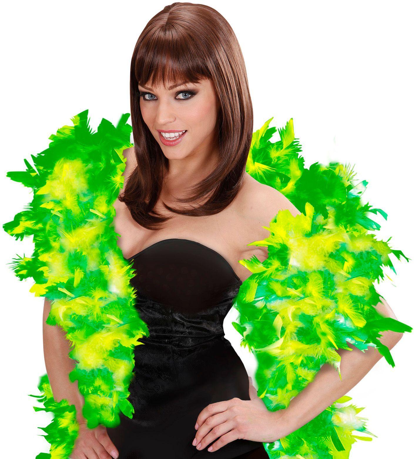 Luxe groene-lichtgroene boa