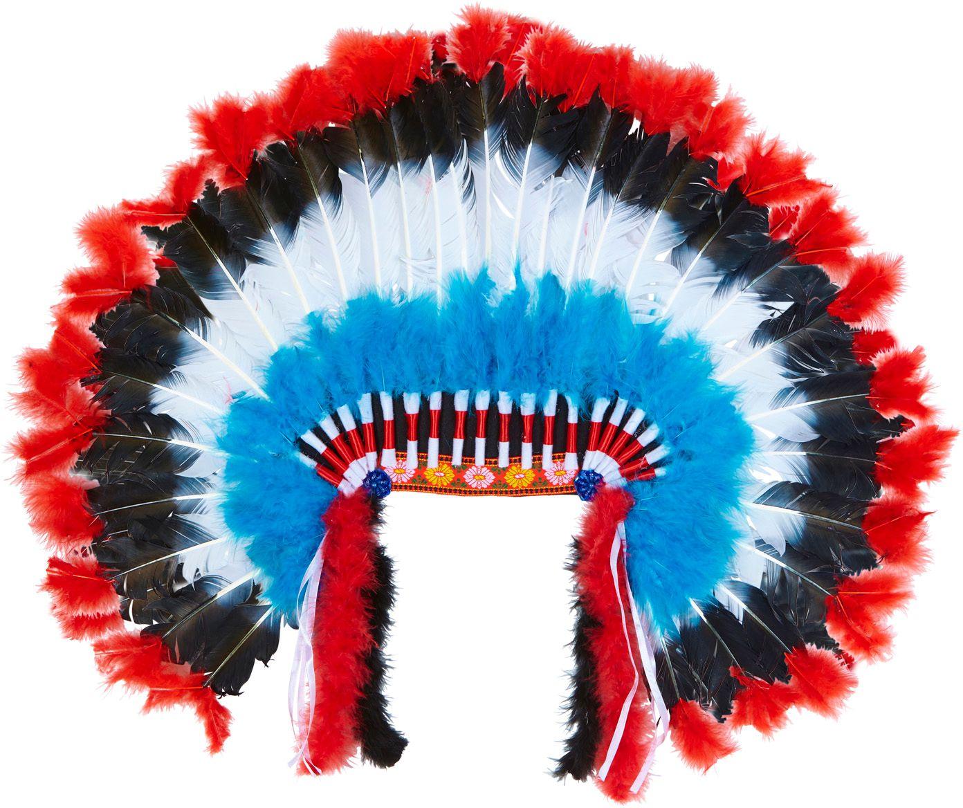 Luxe indianen hoofdtooi met marabou