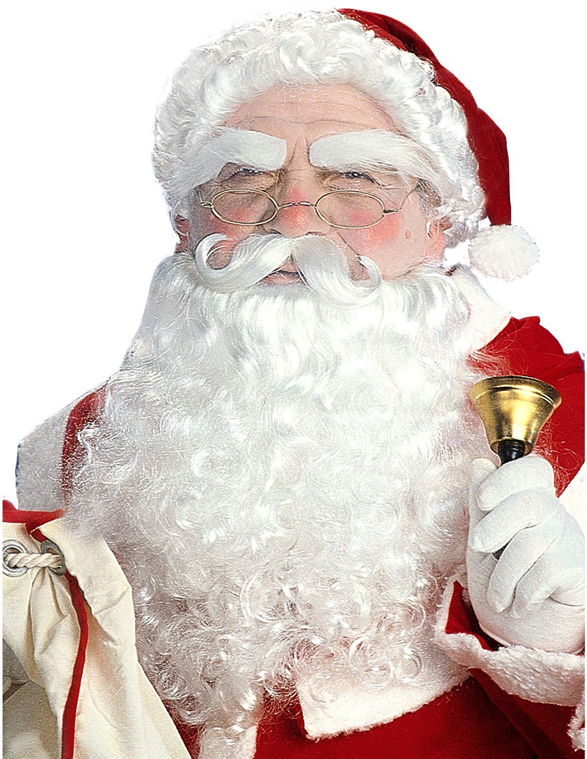 Luxe kerstman pruikenset