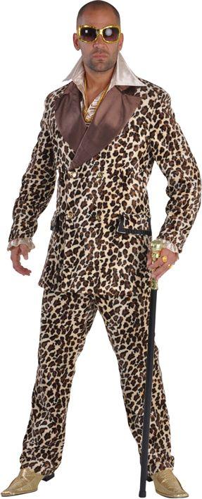 Luxe pimp pak tijgerprint mannen