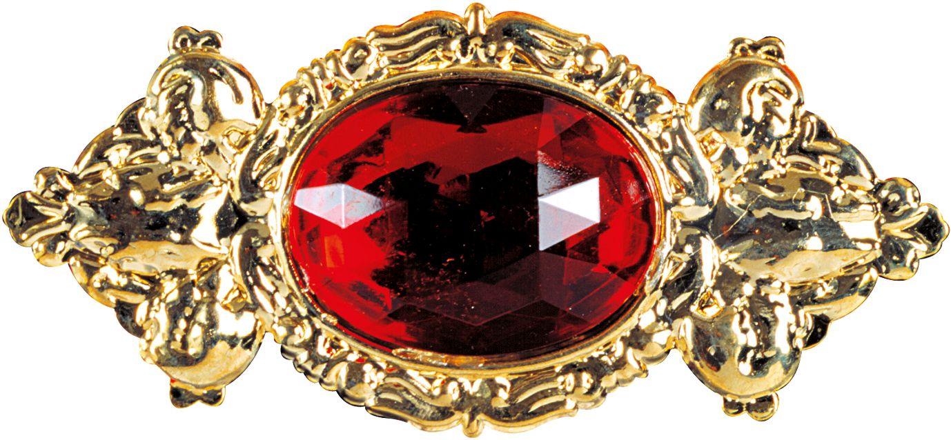 Luxe rode maxi broche
