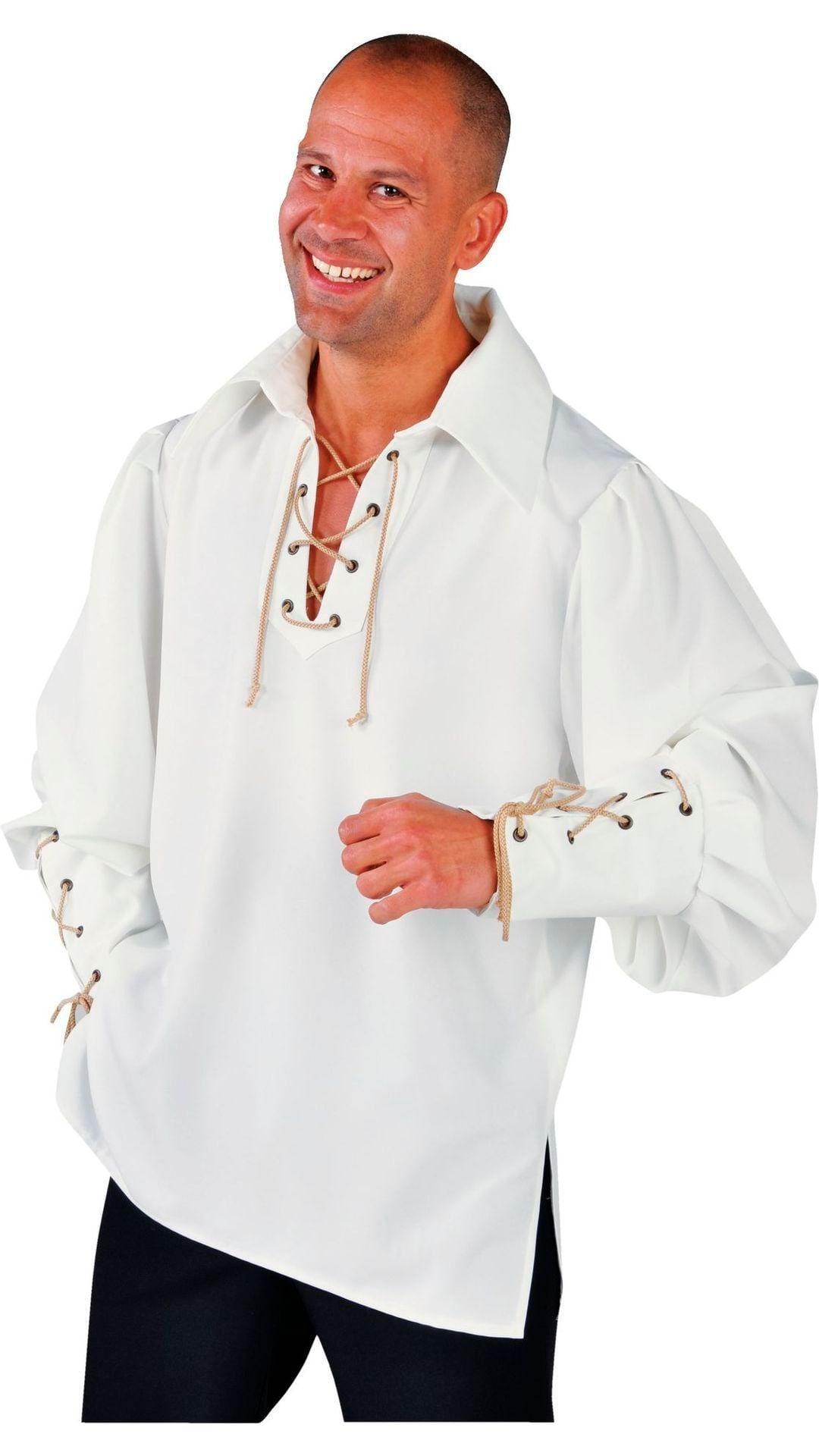 Luxe wit piraten hemd mannen