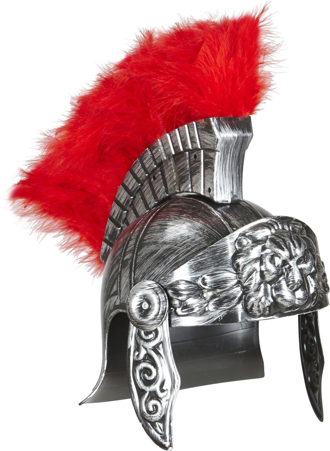 Luxe zilveren centurion helm